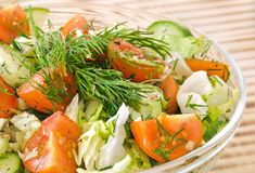 Fresh vegetable salad Stock Photos