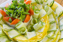 Fresh Vegetable salad. With cucumber, pineapple, tomato Stock Image