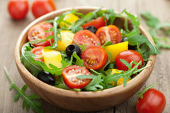 Fresh vegetable salad. In bowl Royalty Free Stock Photo
