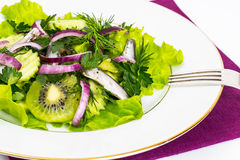Fresh vegetable salad with anchovies Royalty Free Stock Photography