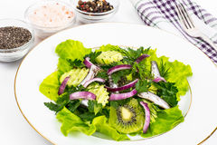 Fresh vegetable salad with anchovies. Studio Photo Royalty Free Stock Photos