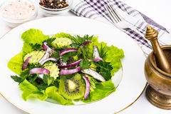 Fresh vegetable salad with anchovies Stock Photos