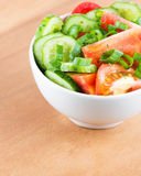 Fresh vegetable salad in bowl Stock Photo