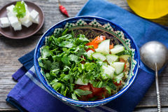 Fresh vegetable salad in bowl Stock Photography