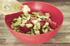 Fresh vegetable salad,close-up.  Stock Image