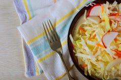 fresh vegetable salad,close-up stock image
