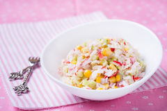 Fresh vegetable salad with corn Royalty Free Stock Photography