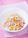 Fresh vegetable salad with corn Stock Photography