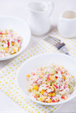 Fresh vegetable salad with corn Stock Photo