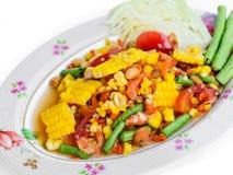 Fresh vegetable salad with corn,tomato Royalty Free Stock Image
