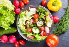 Fresh vegetable salad Royalty Free Stock Image