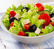 Fresh Vegetable salad with feta cheese Royalty Free Stock Photography