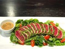 Fresh vegetable salad with fresh tuna stock photos