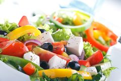 Free Fresh Vegetable Salad (greek Salad). Royalty Free Stock Images - 40261189