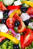 Fresh Vegetable salad (greek salad). Royalty Free Stock Images