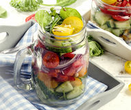 Fresh vegetable Salad. Healthy diet and detox concept. Stock Photo