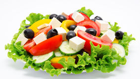 Fresh vegetable salad isolated Royalty Free Stock Images