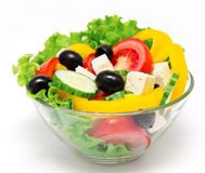 Fresh vegetable salad isolated Stock Images