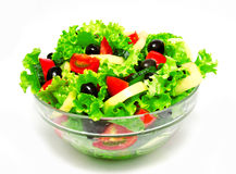 Fresh vegetable salad isolated on a white Royalty Free Stock Image