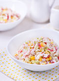 Fresh vegetable salad with mayonnaise Royalty Free Stock Image