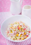 Fresh vegetable salad with mayonnaise Stock Photography