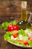 Fresh vegetable salad with olive oil Royalty Free Stock Photos