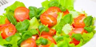 Fresh vegetable salad on plate Stock Photography