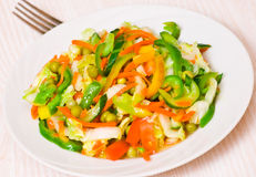 Fresh vegetable salad. On plate Royalty Free Stock Photos