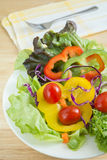 Fresh vegetable salad on plate Royalty Free Stock Photo