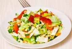 Fresh vegetable salad. On plate Stock Image