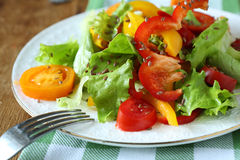 Fresh vegetable salad on plate Royalty Free Stock Image