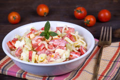 Fresh vegetable salad on plate Stock Images