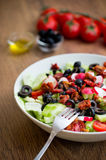 Fresh vegetable salad on a plate Royalty Free Stock Images