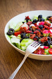 Fresh vegetable salad on a plate Stock Image