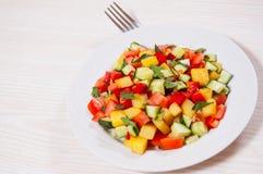 Fresh vegetable salad on plate Stock Image