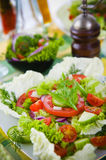 Fresh vegetable salad with tomato and cucumber Stock Photos