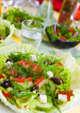 Fresh vegetable salad with tomato and cucumber Stock Image
