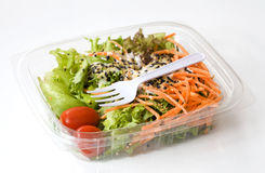 Fresh vegetable salad with topping Stock Photography