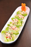 Fresh vegetable salad with tuna Royalty Free Stock Image