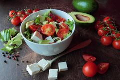 Fresh vegetable salad Stock Images