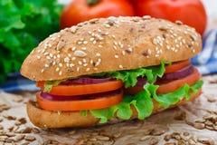 Fresh vegetable sandwich Stock Photography