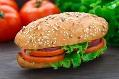 Fresh vegetable sandwich Royalty Free Stock Photography