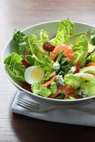 Fresh vegetable shrimp salad Stock Photo