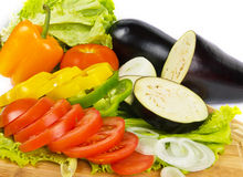 Fresh vegetable slices background Stock Photography
