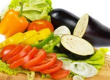 Fresh vegetable slices background. Fresh ripe vegetable slices background Stock Photography