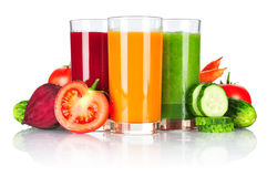Fresh vegetable smoothie Royalty Free Stock Images