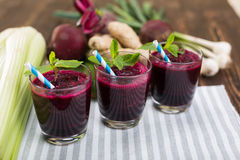 Fresh vegetable smoothies Royalty Free Stock Photography