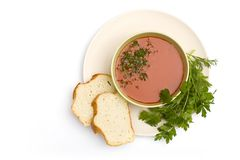 Fresh vegetable soup Stock Photography