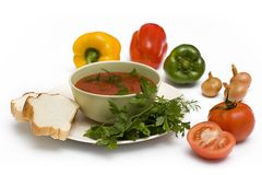 Fresh vegetable soup Royalty Free Stock Photography