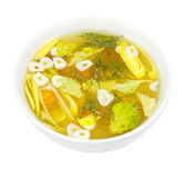 Fresh vegetable soup Royalty Free Stock Images